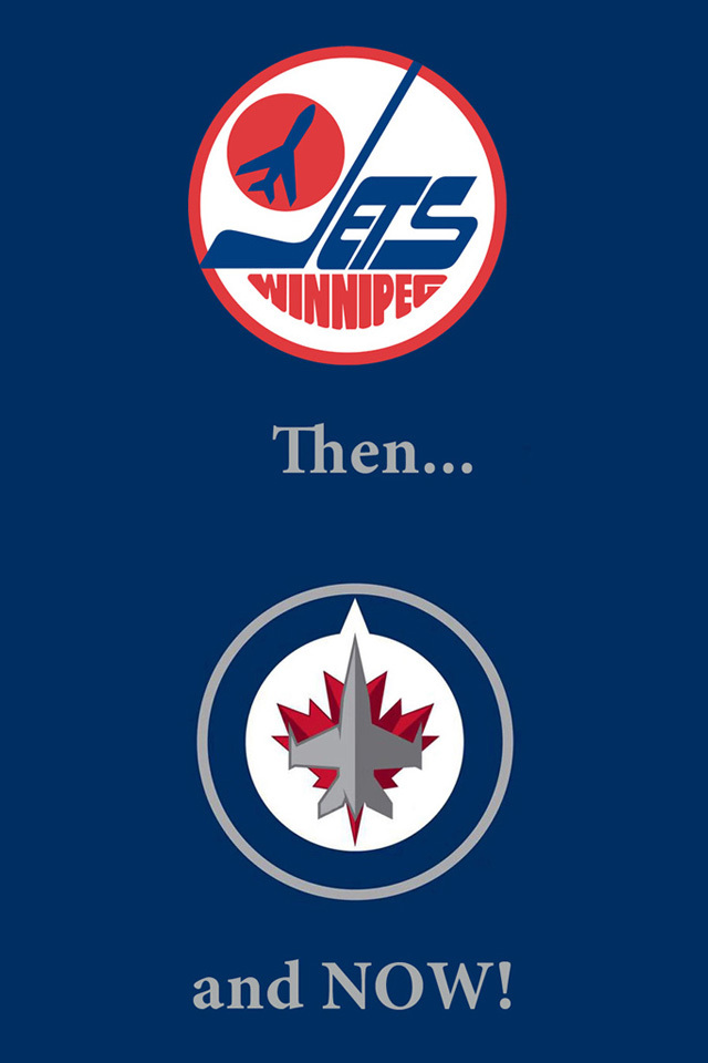 640960 Winnipeg Jets Old New RCAF Logo Blue iPhone4 wallpaper 640x960
