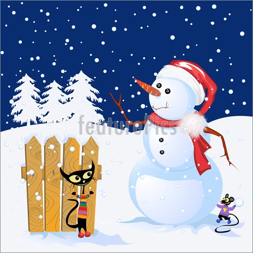 Winter Snowman Backgrounds Winter Holiday Background With 500x500