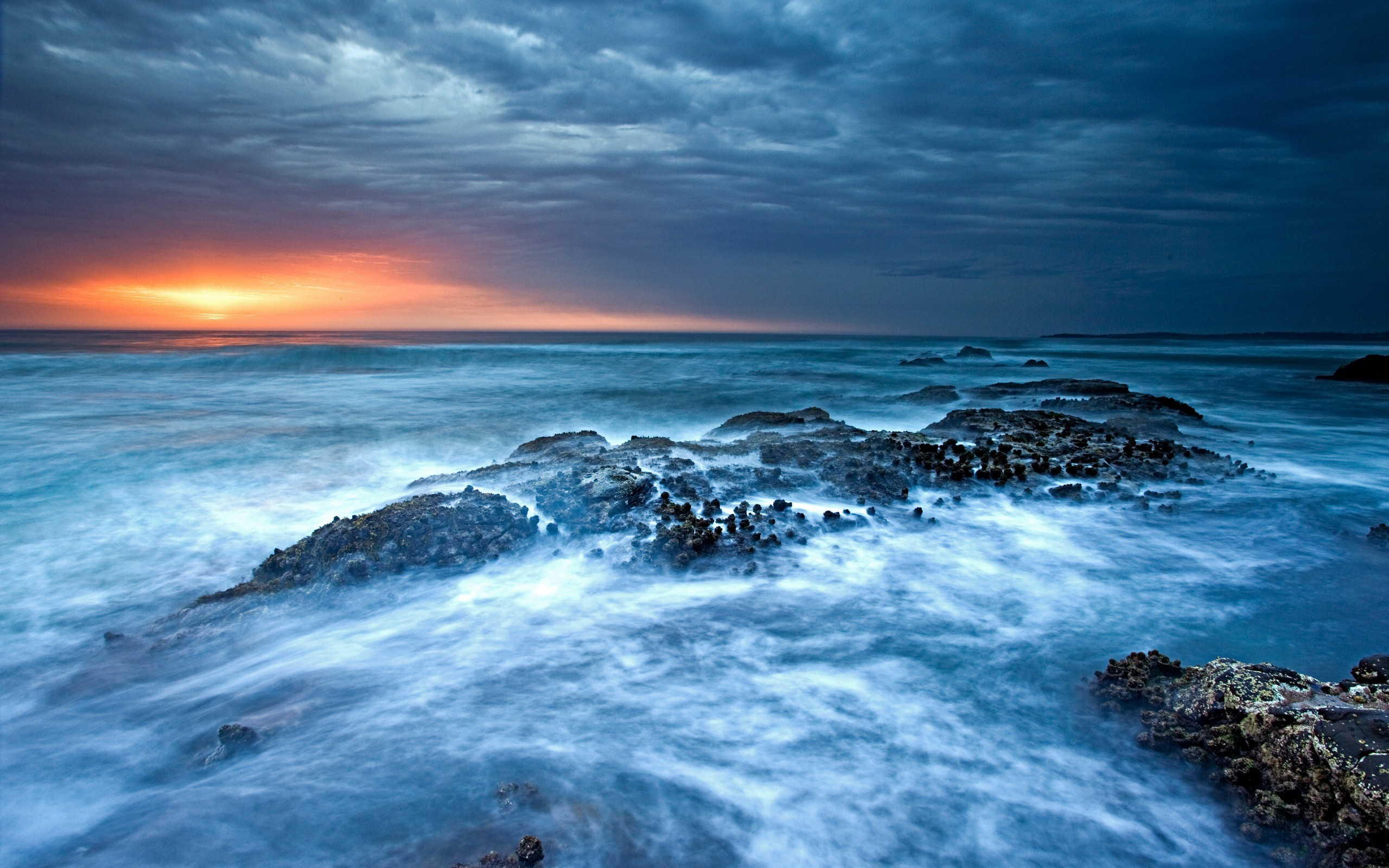 Ocean Waves Sunset Wallpapers   First HD Wallpapers 2560x1600
