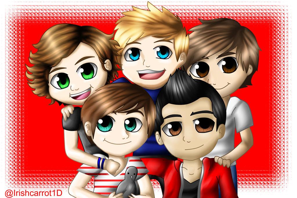 one direction cartoon   One Direction Fan Art 31590833 1024x683
