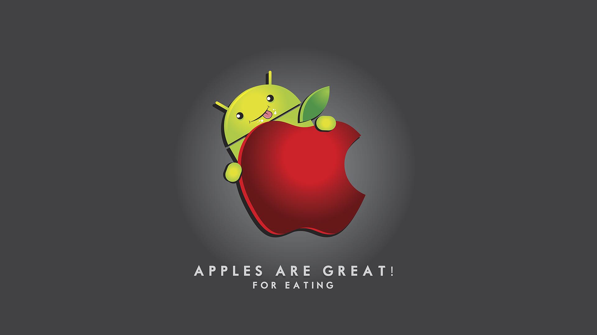 39 Android Eating Apple Wallpaper On Wallpapersafari