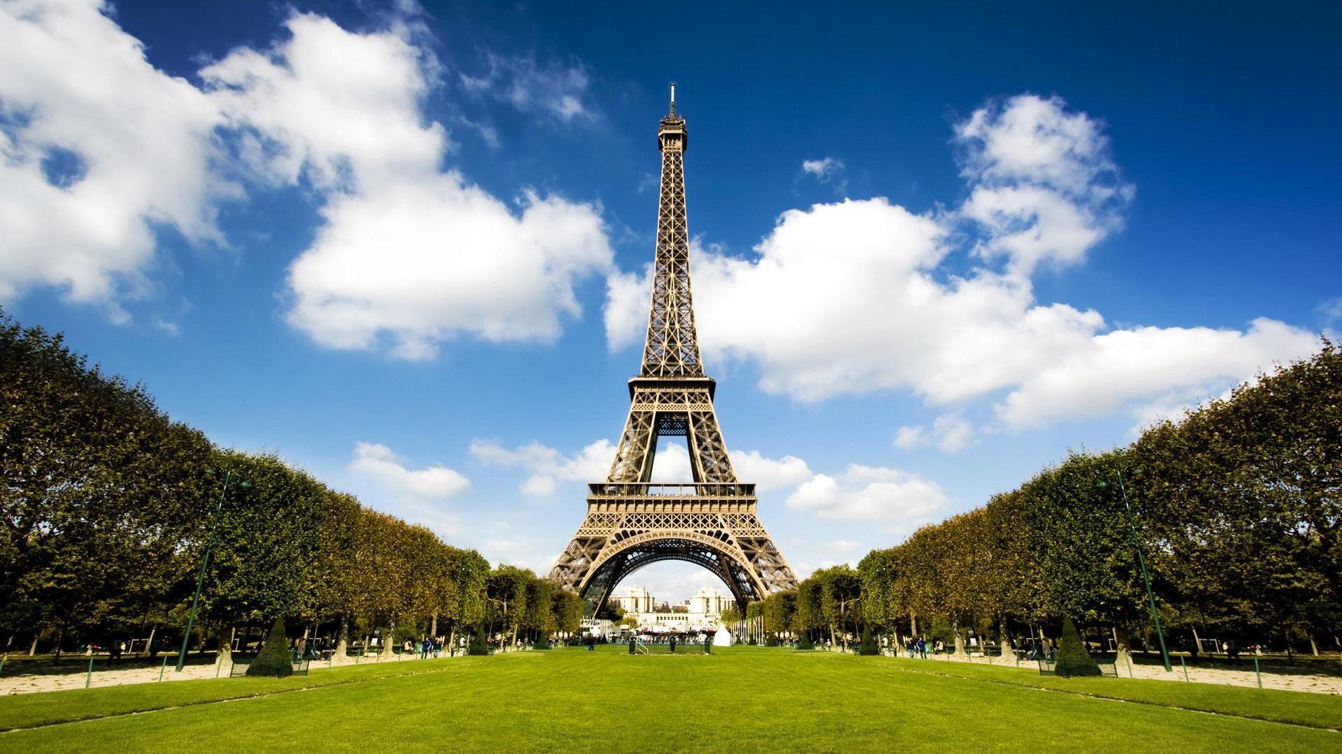 природа страны архитектура Марсово поле Париж Франция  № 824060  скачать