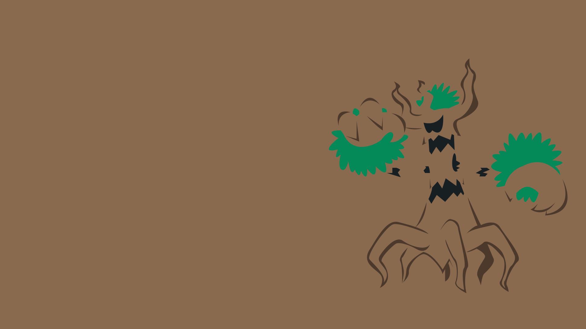 Trevenant Minimalism Brown Background wallpaper anime 1920x1080
