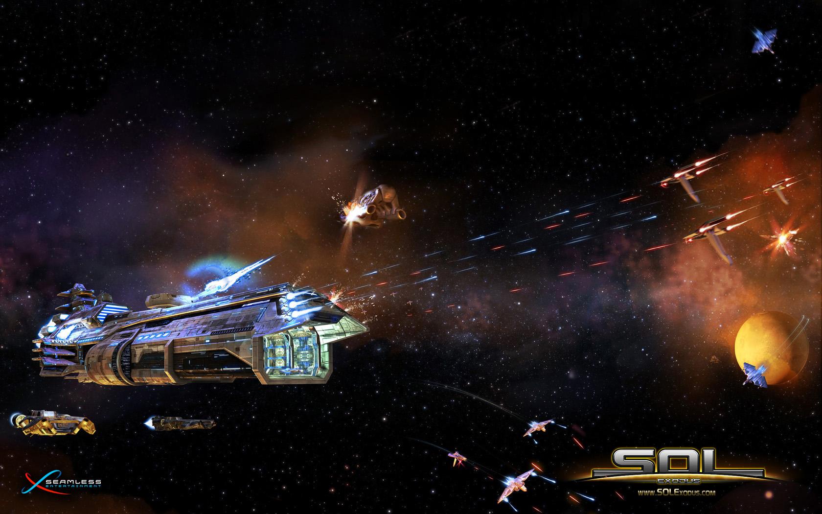 Space battle 1 1680x1050jpg 1680x1050