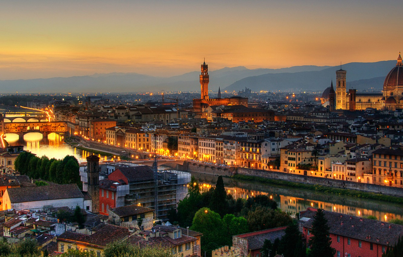Wallpaper City Italy Rome Florence Town Firenze Architecture 1332x850