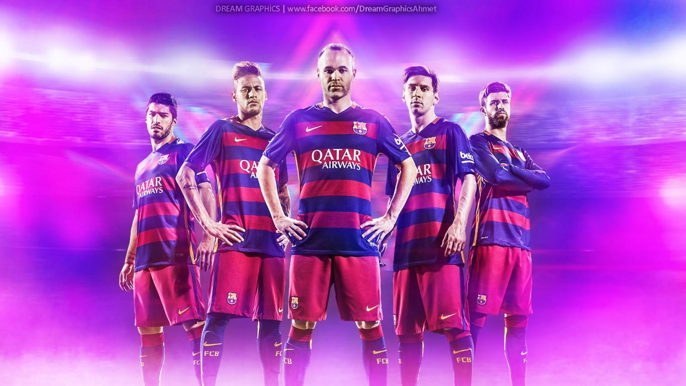 FC Barcelona 20152016 Wallpaper   Football Wallpapers HD 1366x768