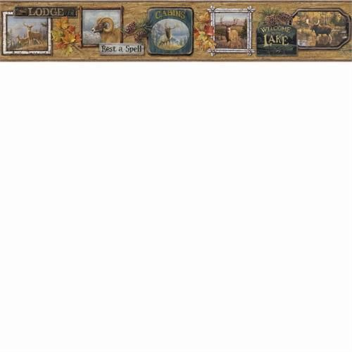 hautman brothers big five hunting cabin wallpaper border htm48562b 500x500