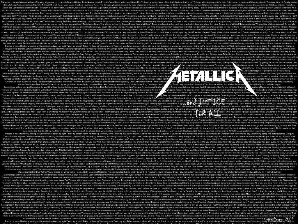 Metallica And Justice For All Wallpaper And justice for all by 1024x768