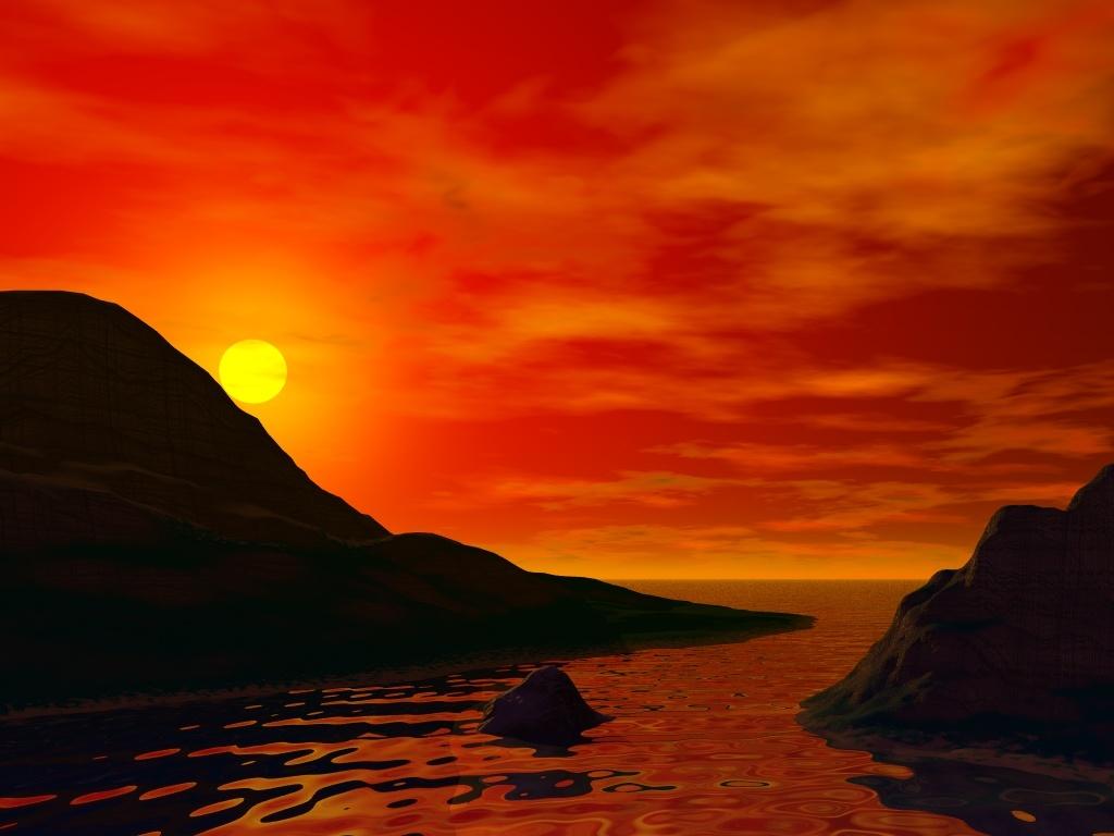 Sunset island 1024x768