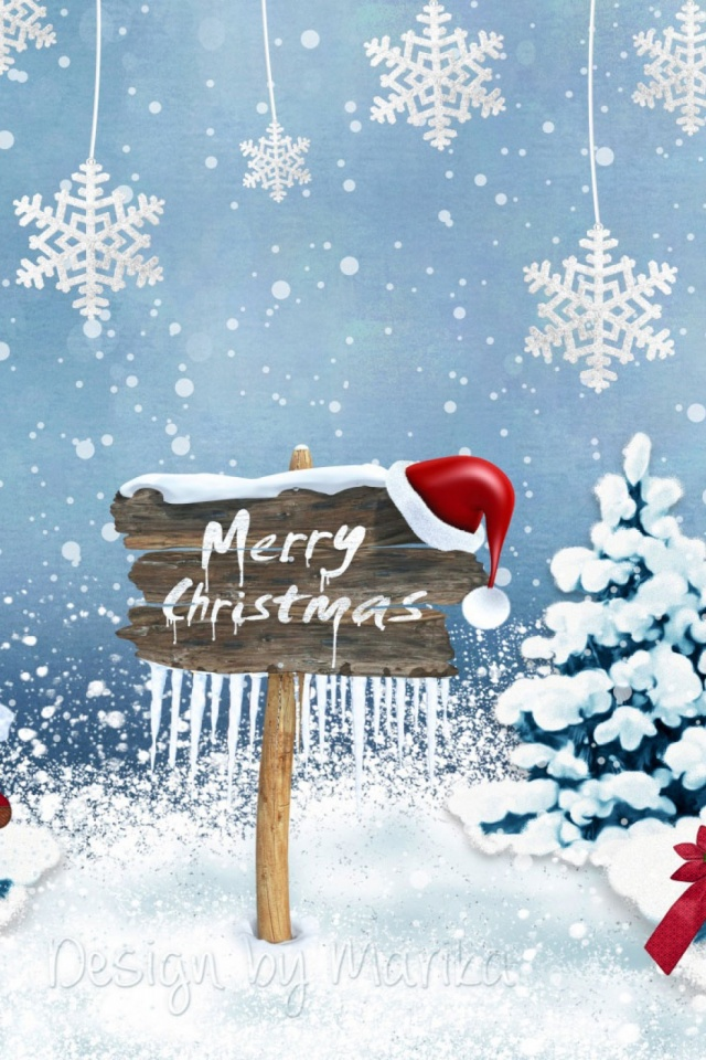 Merry Christmas 2016 Mobile Wallpaper   Mobiles Wall 640x960
