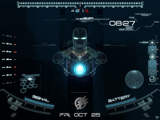 Jarvis Animated Wallpaper Animated jarvis theme 640x480