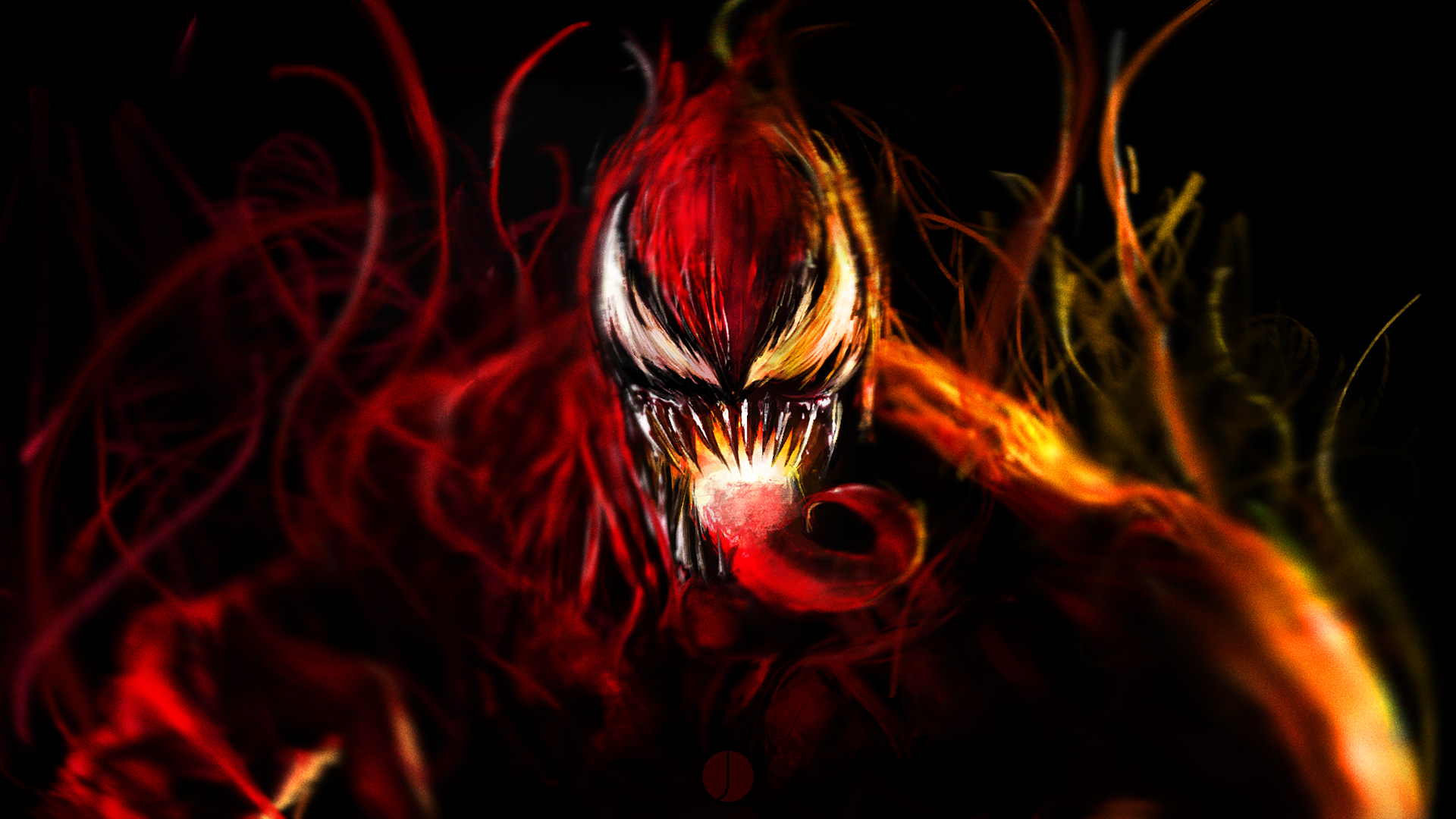 Wallpaper art cletus kasady the symbiote carnage 1920x1080