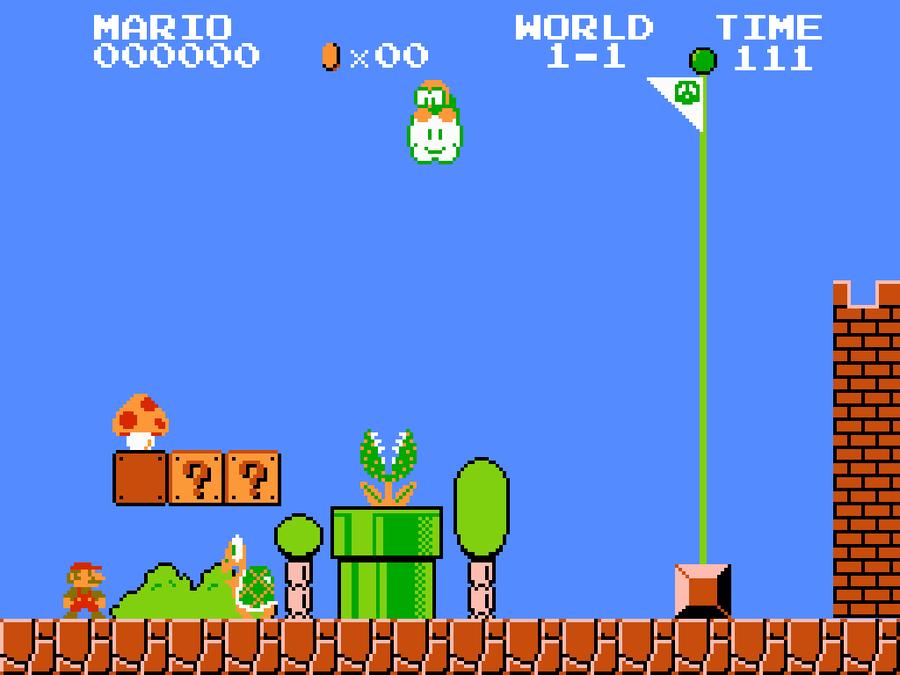 Bit Mario Background by WillJill89 900x675