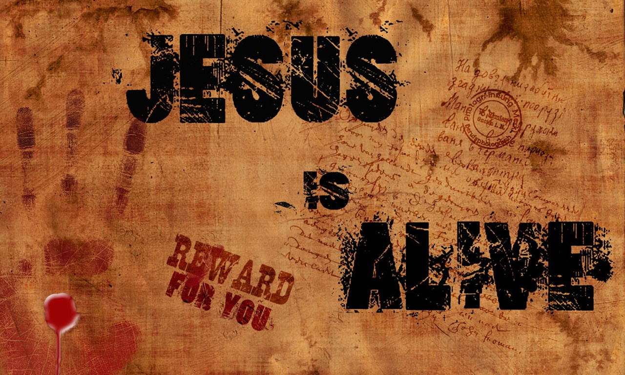 Quote Jesus Is Alive Wallpaper   Christian Wallpapers and Backgrounds 1280x768
