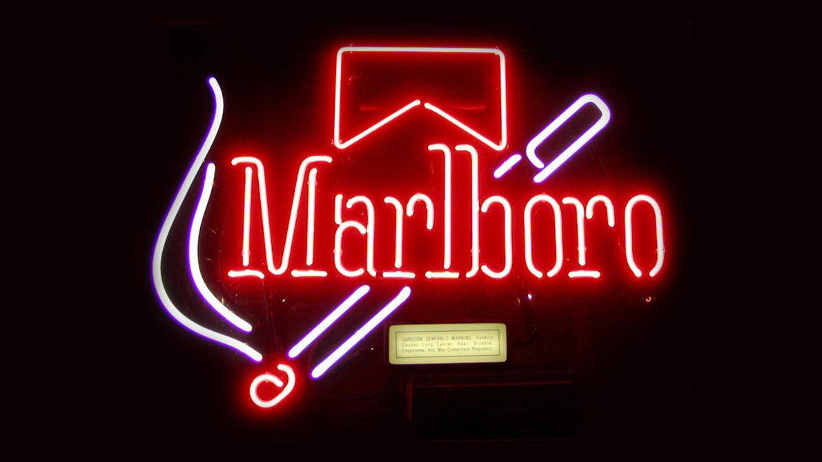 Marlboro Old School Neon Sign HD Wallpaper by TouchOfGrey on 1191x670