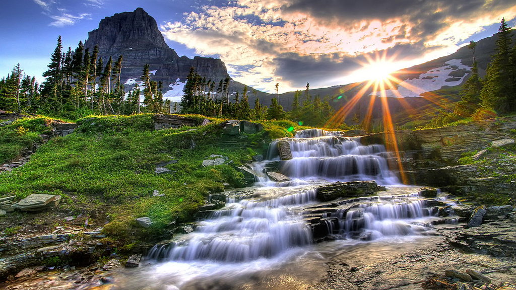 Sunrays Showing Alluring Rivers Wallpapers Images Pics Download 1024x576