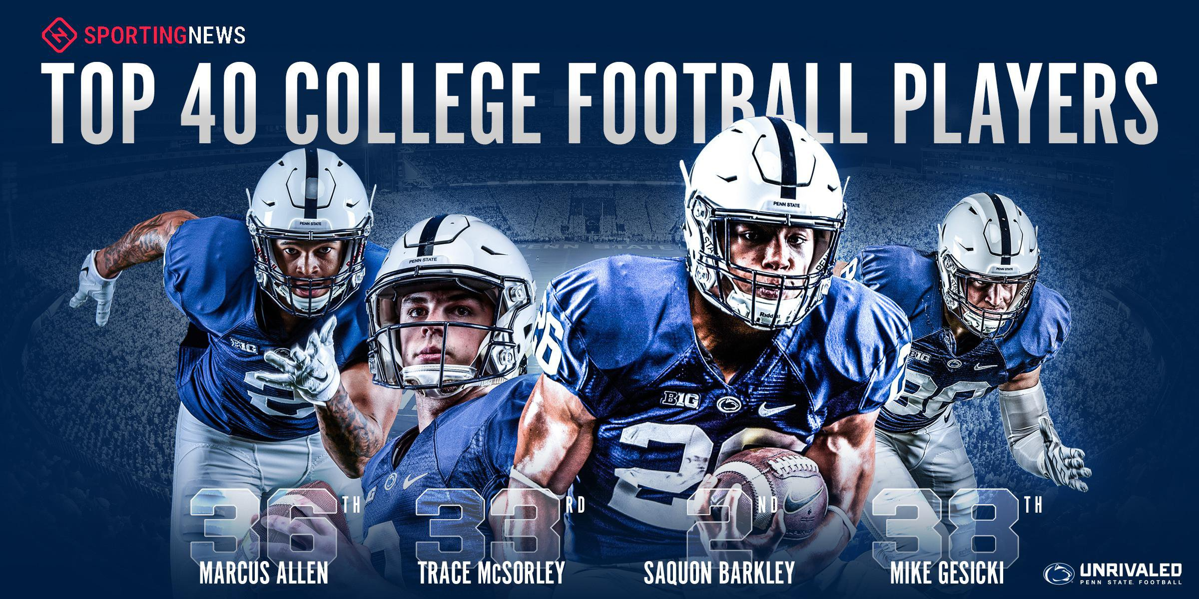 Saquon Barkley no2 Top College Football Players Wallpaper 2400x1200