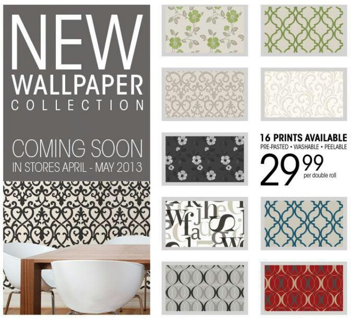 pre pasted double roll wallpaper coming soon to most Bouclair Home 720x650
