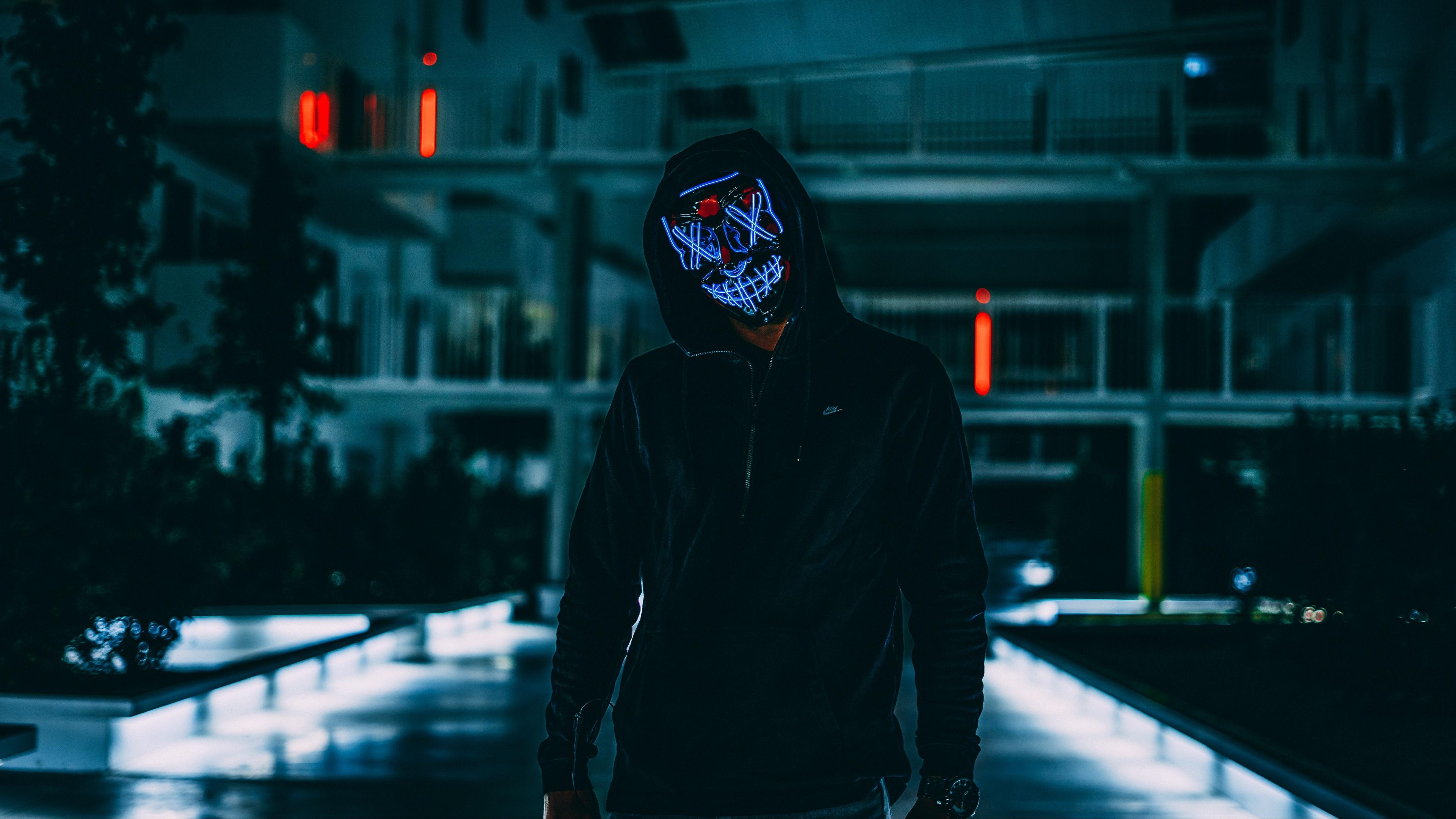 18+ Neon Mask Wallpapers on WallpaperSafari