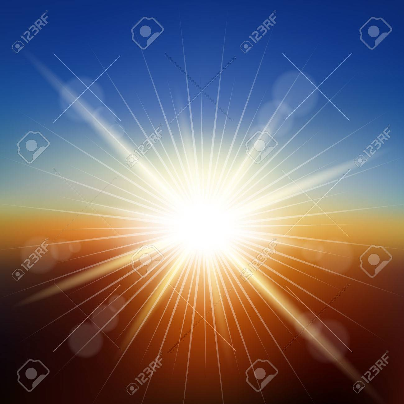 Sunset Background Vector Illustration Saved In Eps 10 File With 1300x1300