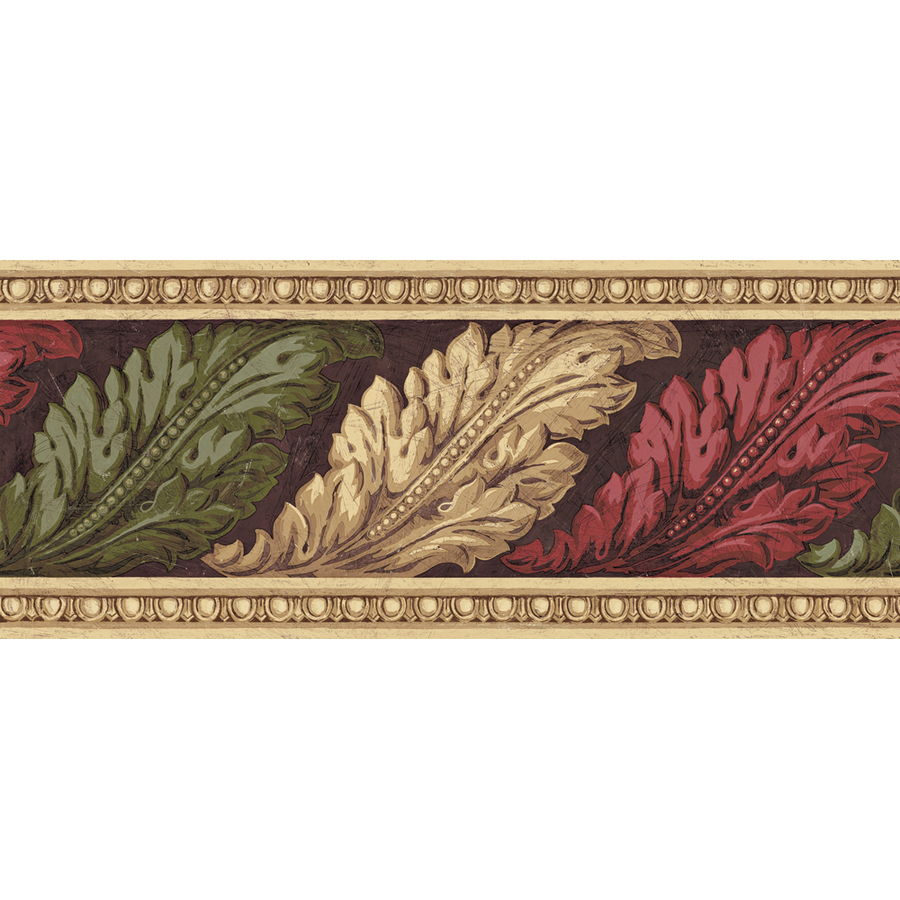 Architectural Leaves Prepasted Wallpaper Border at Lowescom 900x900