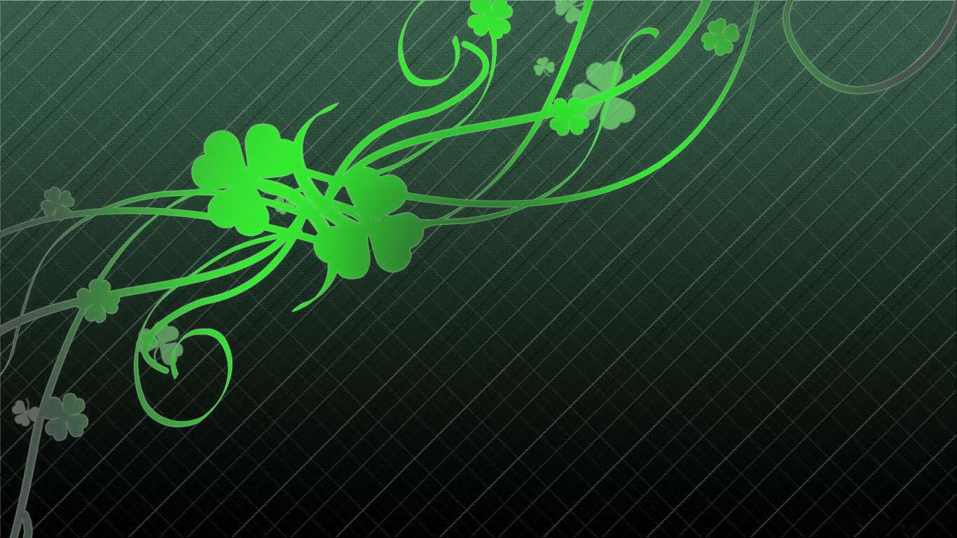 Happy St Patricks Day 2012 PowerPoint Backgrounds Download 1366x768