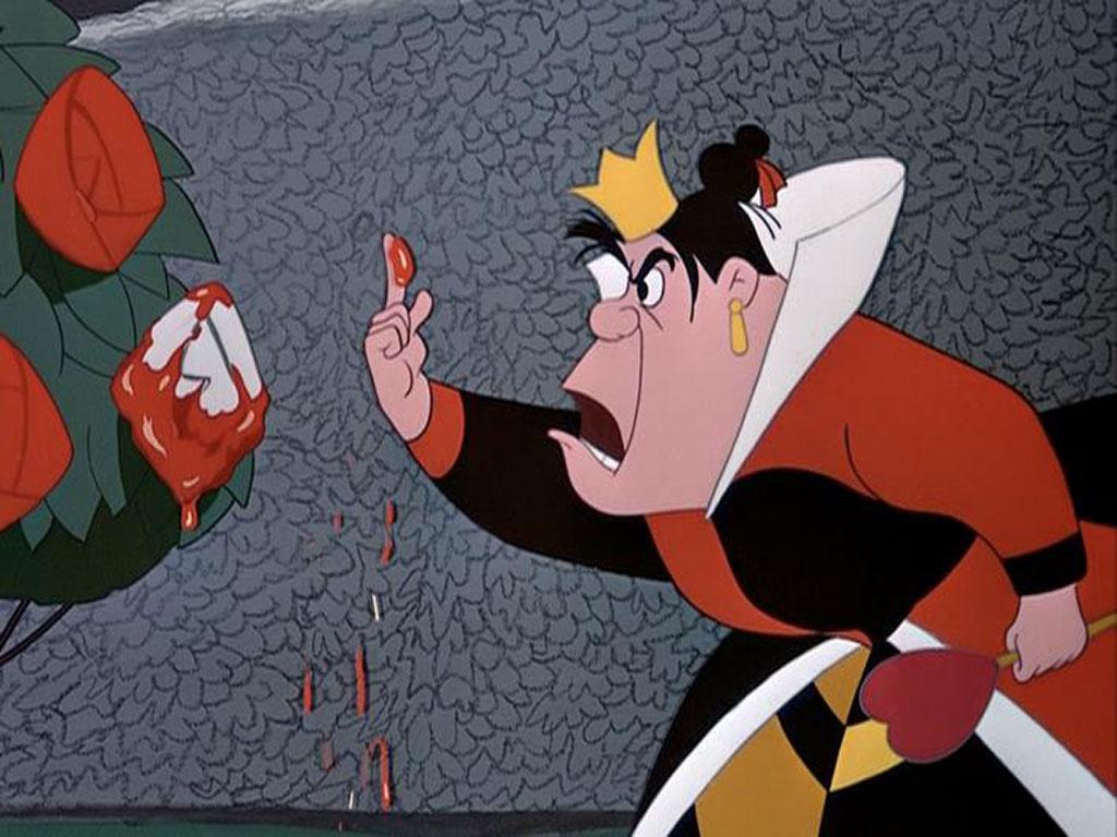 Cartoons Wallpapers   Mad Queen Of Hearts 1024x768 wallpaper 1024x768