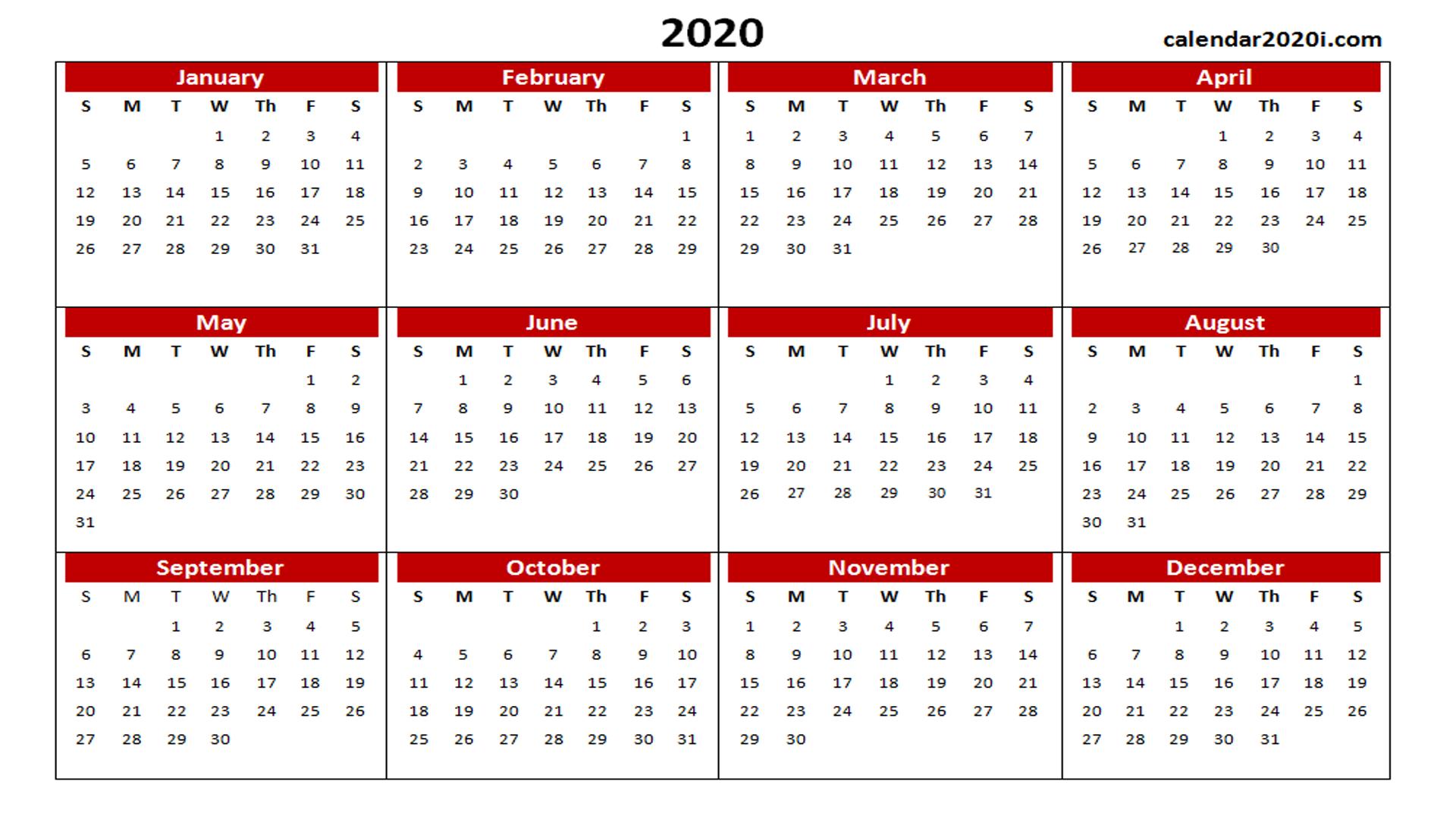 2020 Calendar Wallpapers   Top 2020 Calendar Backgrounds 1920x1080