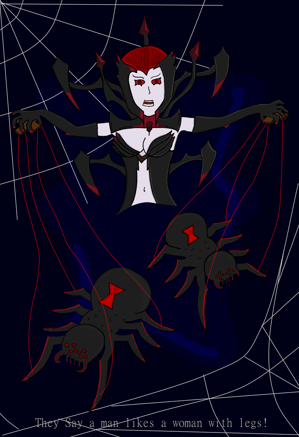 Elise The Spider Queen by Dhonk on deviantART 1024x1496