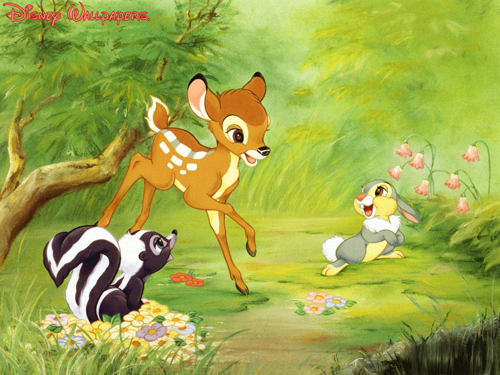 Bambi Thumper and Flower Wallpaper   Bambi Wallpaper 6370083 1024x768