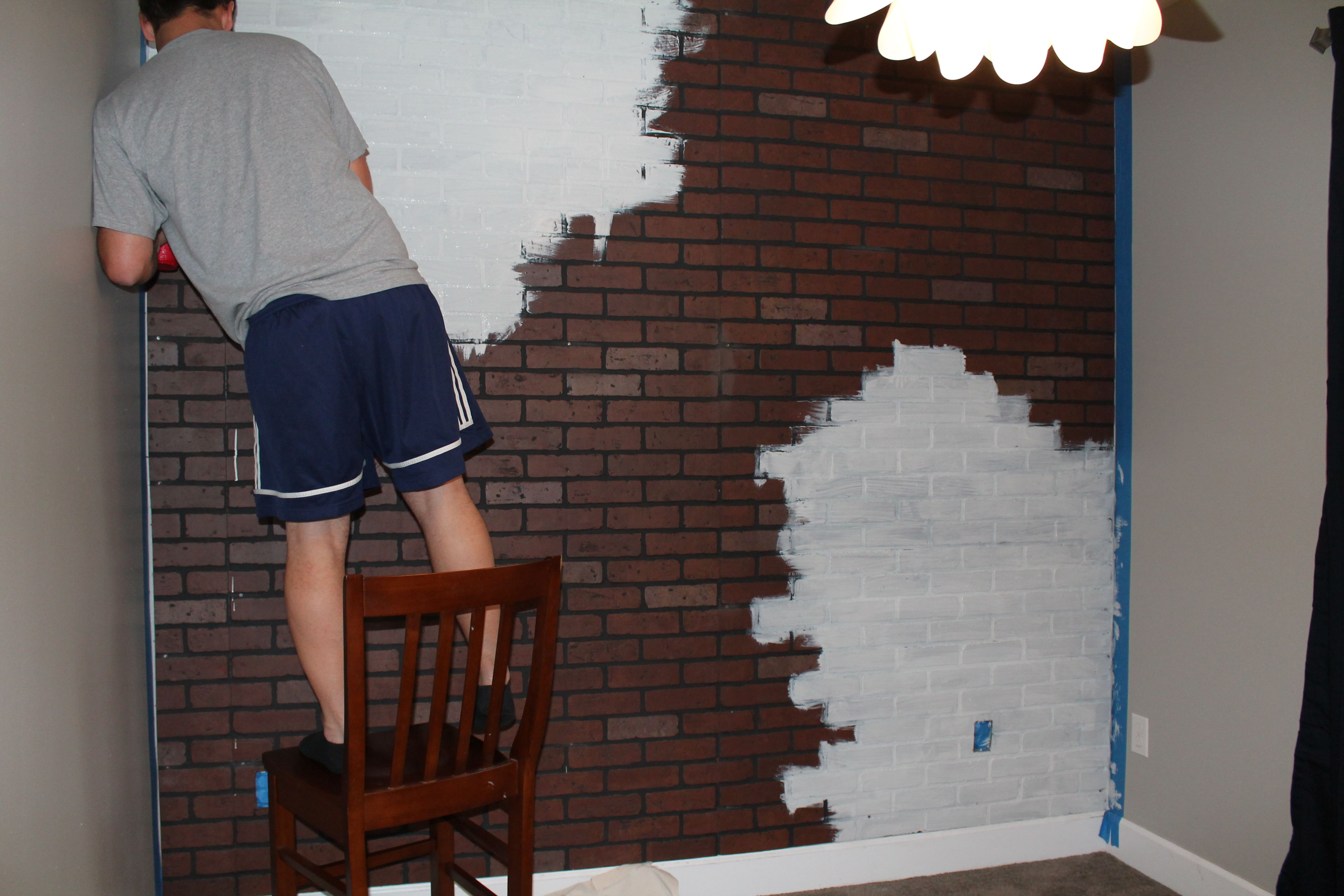 Faux Brick Wall Panels How to whitewash faux brick 4272x2848