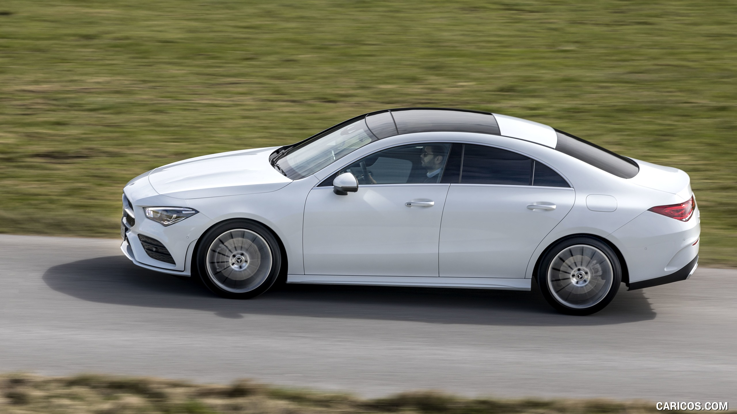 2020 Mercedes Benz CLA 220 d Coupe AMG Line Color Digital White 2560x1440