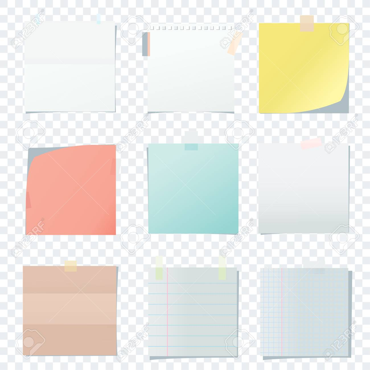 Bright Square Colored School Paper Sheets For Note Kanban Notes 1300x1300