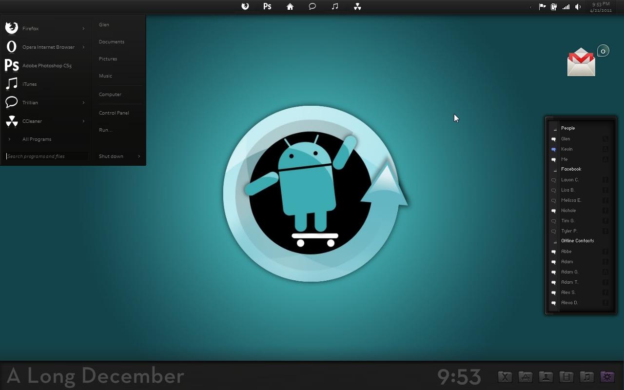 Cyanogenmod  win7  by G3mpi3 1280x800