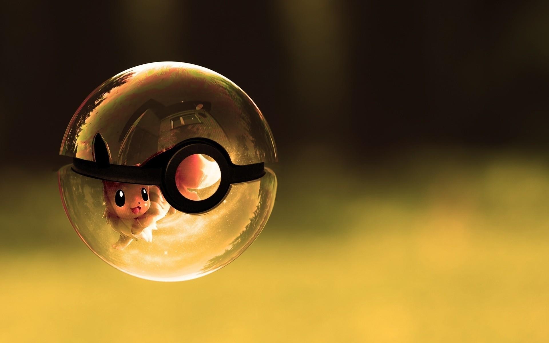 Pokemon poke balls eevee artwork wallpaper 1920x1200 1920x1200