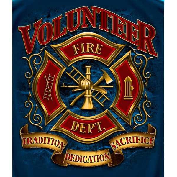Volunteer Firefighter Tshirt Firefighter Apparel Firefightercom 600x600