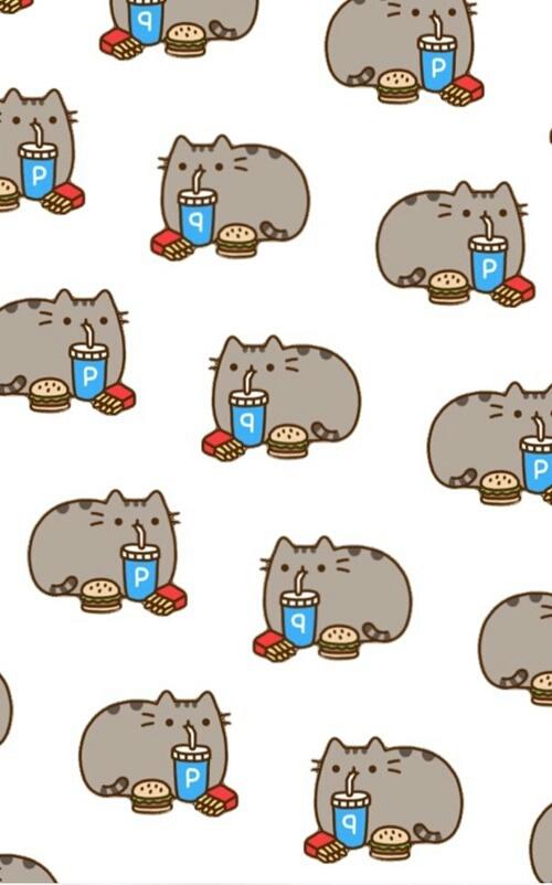 background cat food pusheen wallpaper   image 3945521 by Bobbym 500x802