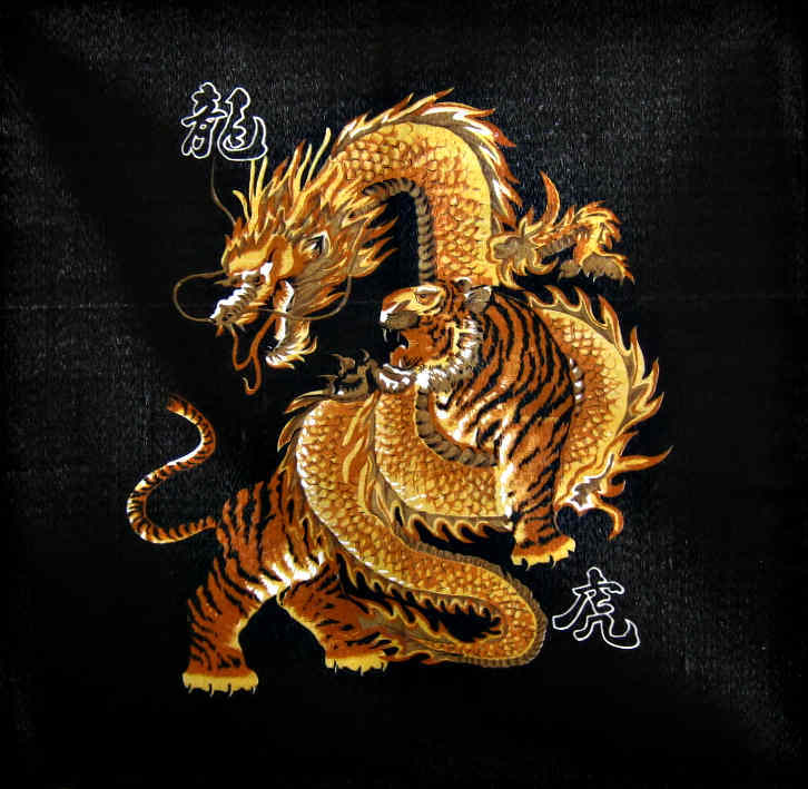 Dragon And Tiger Wallpaper 726x709