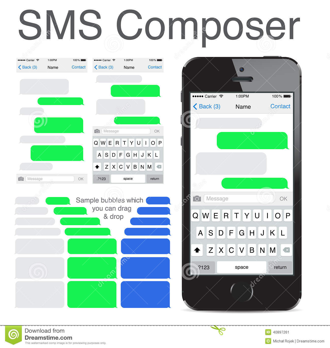 Iphone Call Screen Template Iphone 5s chatting sms 1300x1372