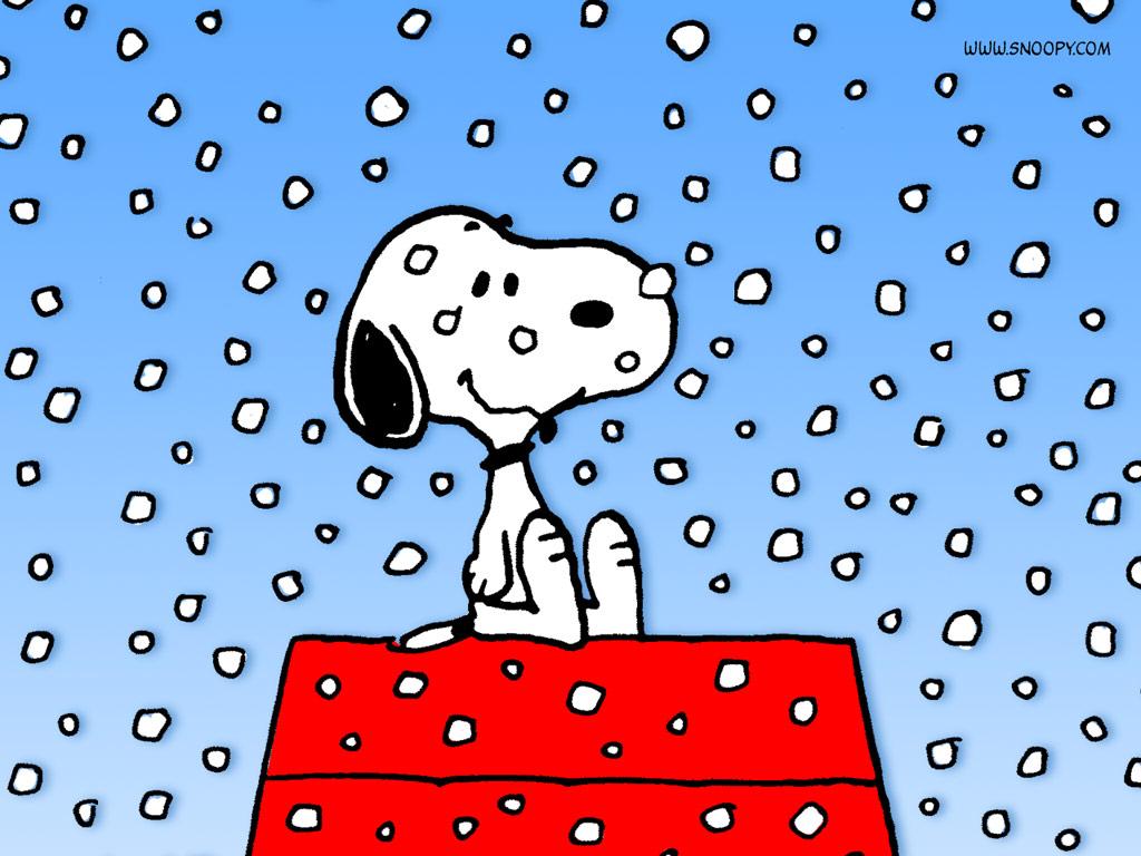 04 Peanuts Snoopy Snow 1024 1024x768