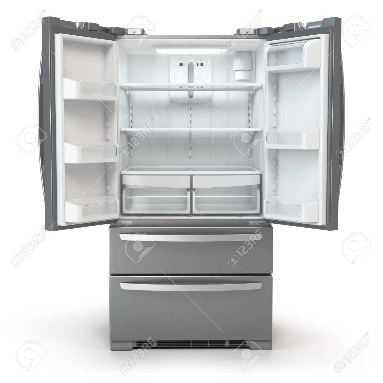 Open Fridge Freezer Side By Side Stainless Steel Srefrigerator 1300x1300