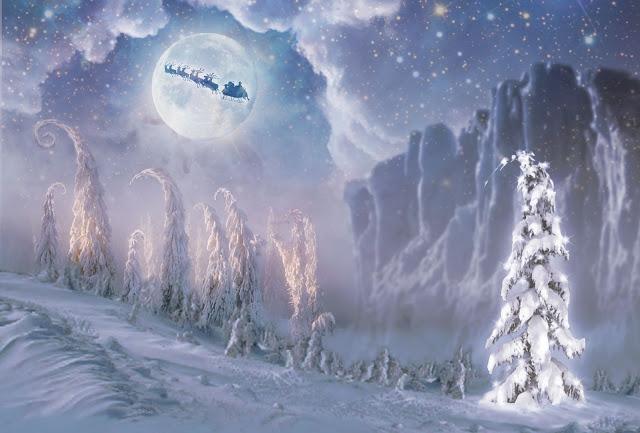 Studio 71 Christmas Wallpaper Collection Santas Flight 640x433