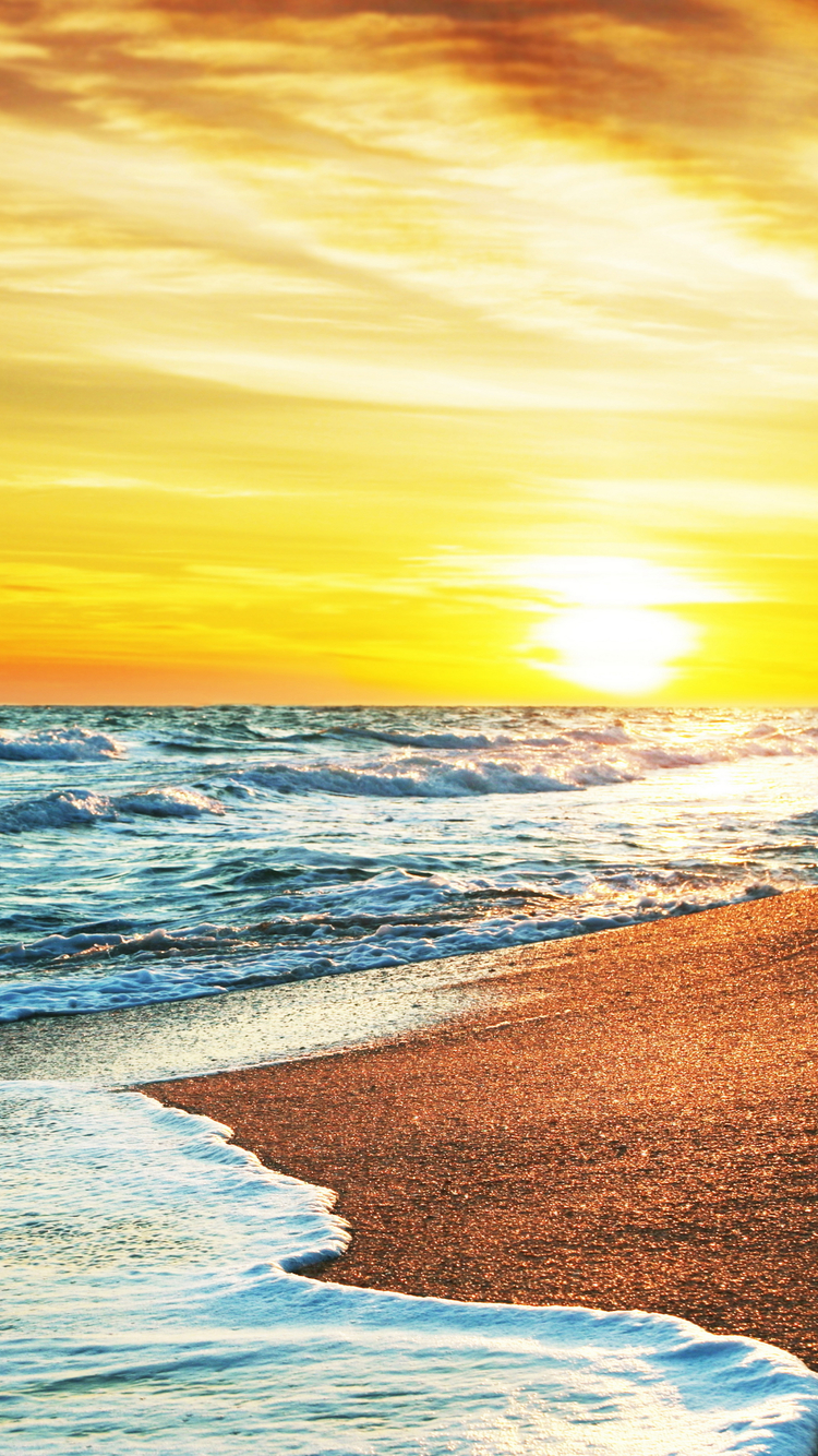 Free Download Ocean Sunset Iphone 6 Wallpaper Hd Iphone 6