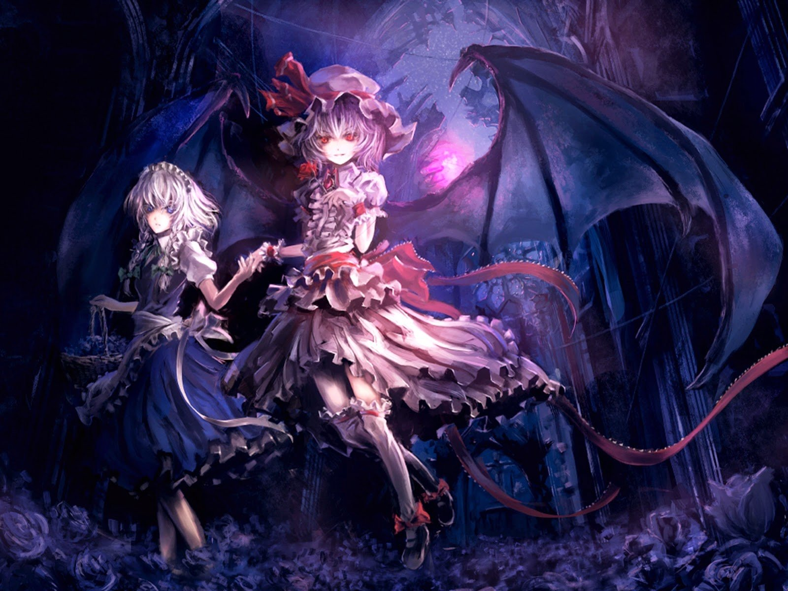 Anime Girl Demon Devil Wings Wallpaper With Resolution 1600x1200