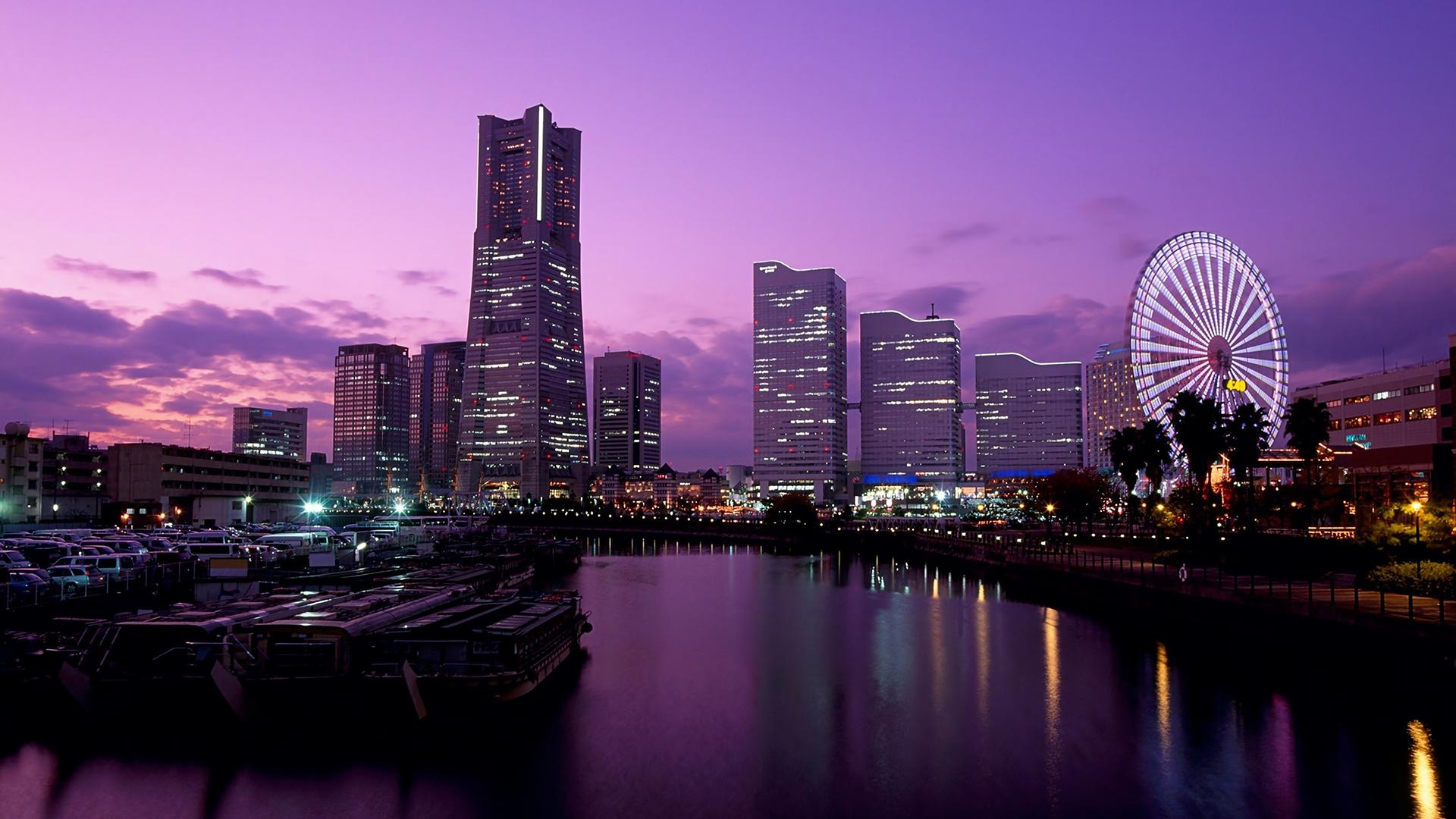 Tokyo Cityscape at Sunset HD Wallpaper FullHDWpp   Full HD 1920x1080