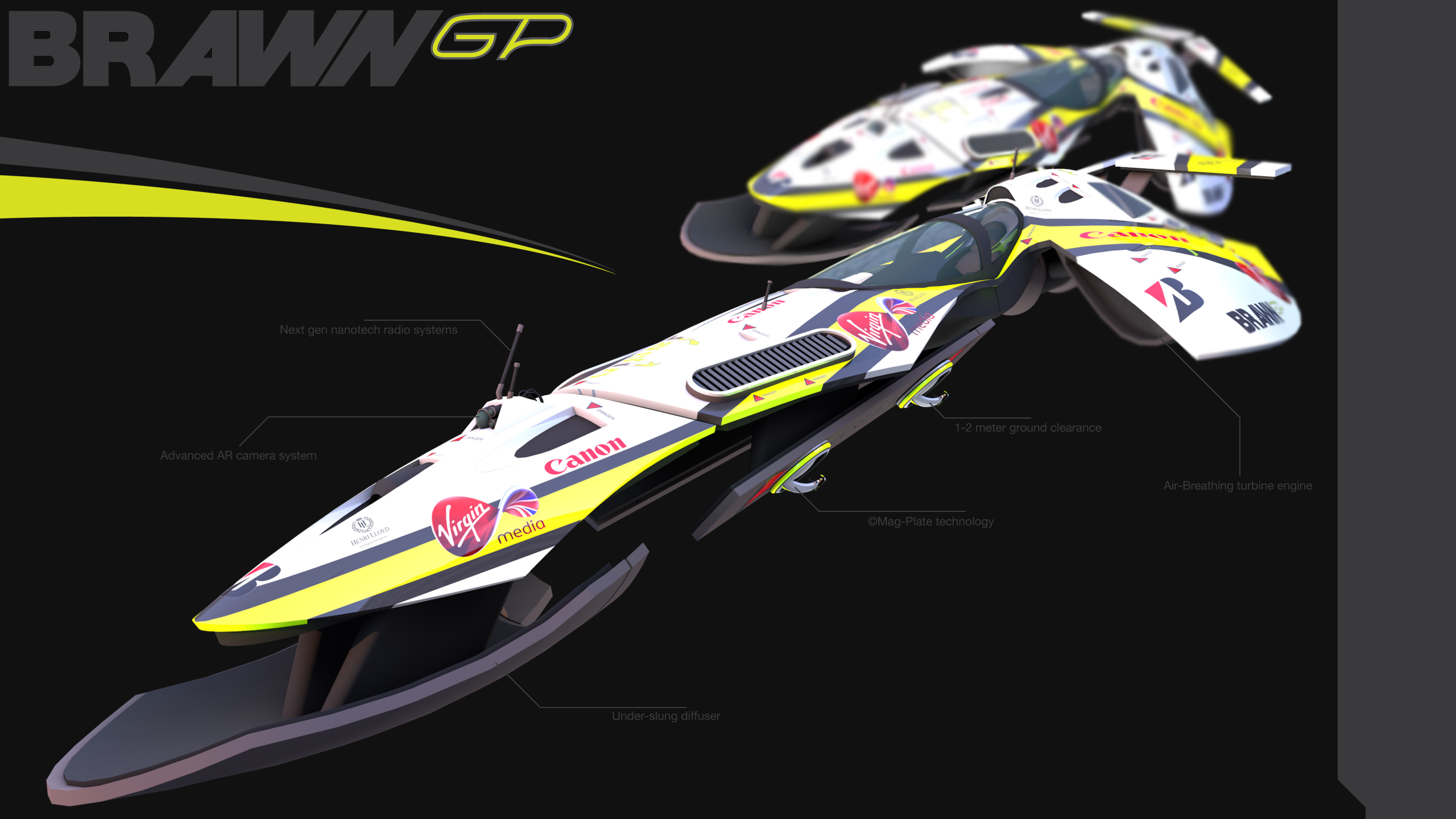 Brawn GP 2015 viper Formula 1 craft by minimacman15 2560x1440