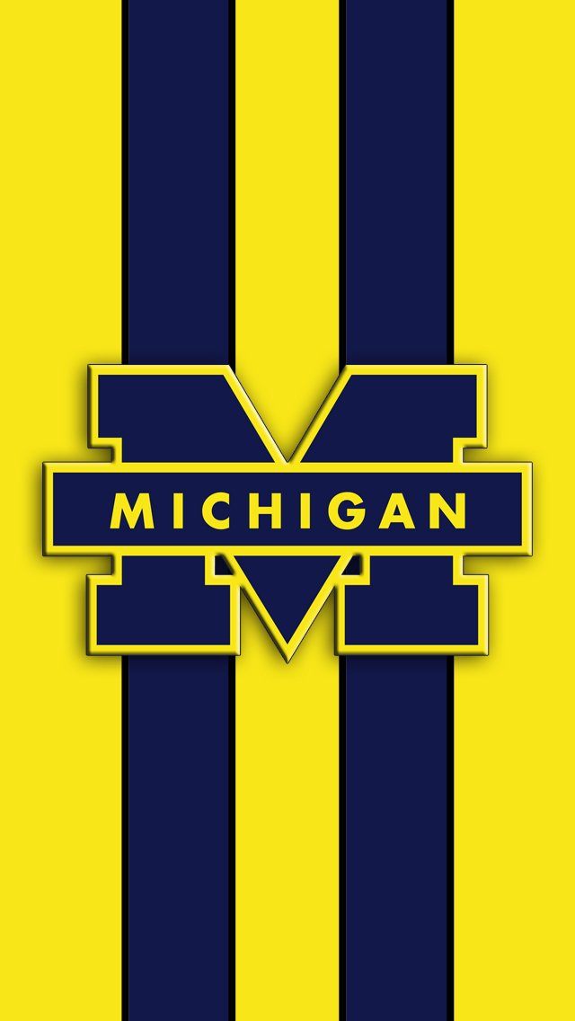 Michigan Wolverines Logo iPhone 5 Wallpaper 640x1136 640x1136