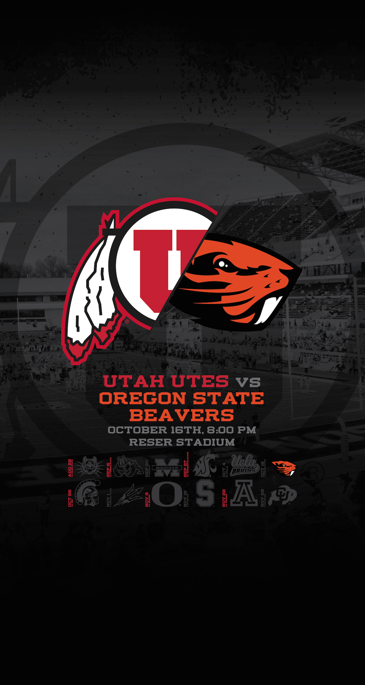 Utah Utes Oregon State Wallpaper Dahlelama 1252x2346