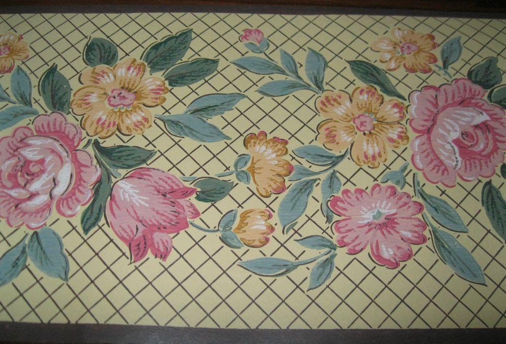 Cottage Trellis Lattice Yellow Wallpaper Border 5163 Brown eBay 1000x680