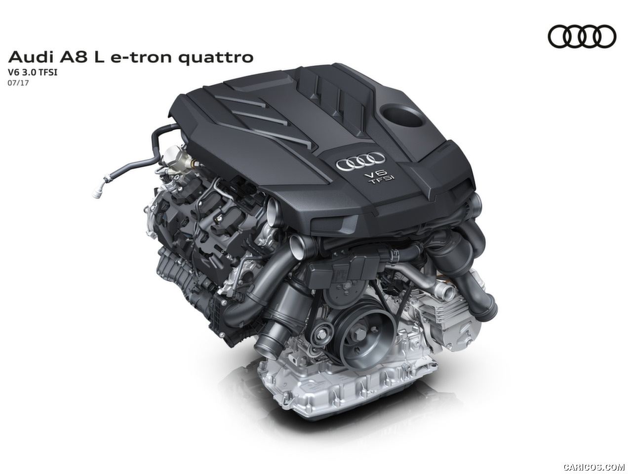 2018 Audi A8 L e tron   V6 30 TFSI Engine HD Wallpaper 53 1280x960